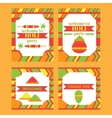 Printable set of indian Holi party festival of vector image vector image