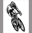 professional cyclist riding a road bike vector image
