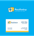 profile logo design with business card template vector image vector image