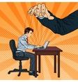 Puppeteer Controlling Business Man Pop Art vector image