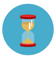 sand watch icon web button on round blue vector image vector image
