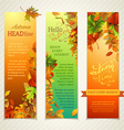 set of bright vertical autumn banners vector image