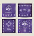 set of four ultra violet cards with ethnic design vector image