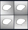 set of retro style speech bubble pop art vector image vector image