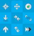 set of simple arrows icons elements loading vector image vector image