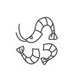shrimp line icon concept shrimp linear vector image vector image