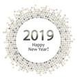 silver dots circle 2019 vector image vector image