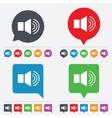 Speaker volume sign icon Sound symbol vector image