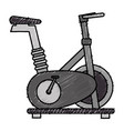 spinning bike isolated icon vector image vector image