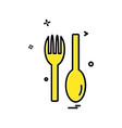 spoon icon design vector image vector image