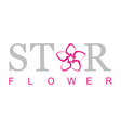 star flower logo vector image vector image