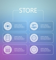 Stylized icons for online store service vector image vector image
