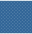 Tile pattern with polka dots on blue background vector image