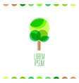 Tree flat colors logo template vector image vector image