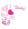 Valentine Beautiful Designer Hearts Background vector image vector image