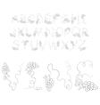 vine alphabet vector image vector image