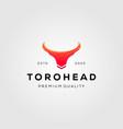 vintage toro head bull logo designs vector image vector image