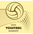 Volleyball yellow background vector image vector image
