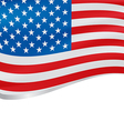 Waving flag of USA background vector image vector image