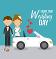Wedding card design vector image vector image