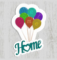 welcome home clip art with wooden background vector image vector image