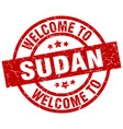 welcome to sudan red stamp vector image vector image