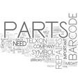 when barcode parts break down text word cloud vector image vector image