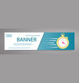 white banner with stopwatch