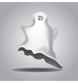 White Halloween ghost vector image vector image