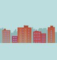 flat city buildings on blue background vector image