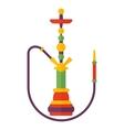 Colorful modern smoke hookah flat vector image
