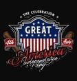 4th july america badge baseball theme