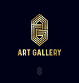 a and g letter art gallery gold monogram consist vector image