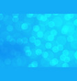 abstract blue blur bokeh light background vector image