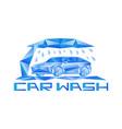 abstract car wash icon vector image
