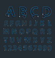 alphabet letters in shape of stethoscope creative vector image vector image