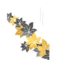autumn leaves decoration with gold and black