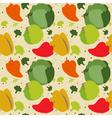 autumn vegetables pattern vector image