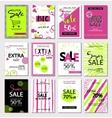 Big Set of social media sale website and mobile vector image vector image