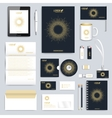 Black set of corporate identity template vector image