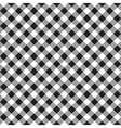 Black white checkerboard check diagonal fabric vector image vector image