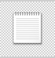 blank mock up notepad icon in transparent style vector image