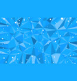 blue triangle abstract background christmas vector image
