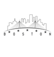 Boston Massachusetts USA skyline design vector image