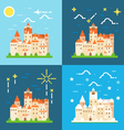 Bran castle germany flat design vector image
