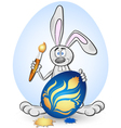 Bunny and Easter Eggs vector image vector image