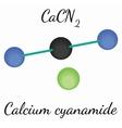 Calcium cyanamide CaCN2 molecule vector image vector image