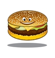 Cartoon cheeseburger with a happy smile vector image vector image