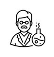 chemistry teacher - line design single isolated vector image vector image