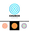 church logo christian symbols circles target and vector image